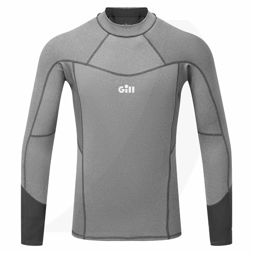Gill Men's Pro Rash Vest Long Sleeve Grey 5020 Front View