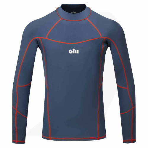Gill Men's Pro Rash Vest Long Sleeve Ocean 5020 Front View