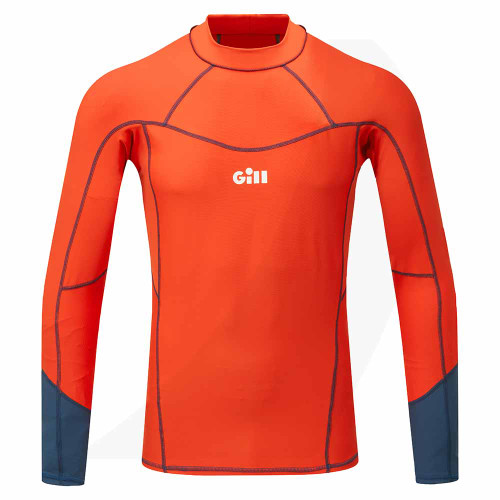 Gill Men's Pro Rash Vest Long Sleeve Orange 5020 Front View