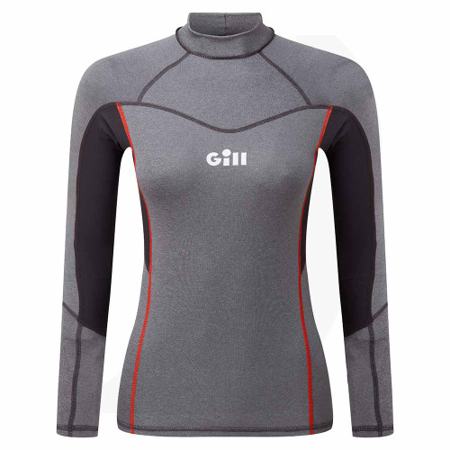 Gill Womens Pro Rash Vest Long Sleeve Grey 5020W Front View