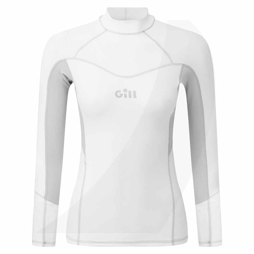 Gill Womens Pro Rash Vest Long Sleeve White 5020W Front View