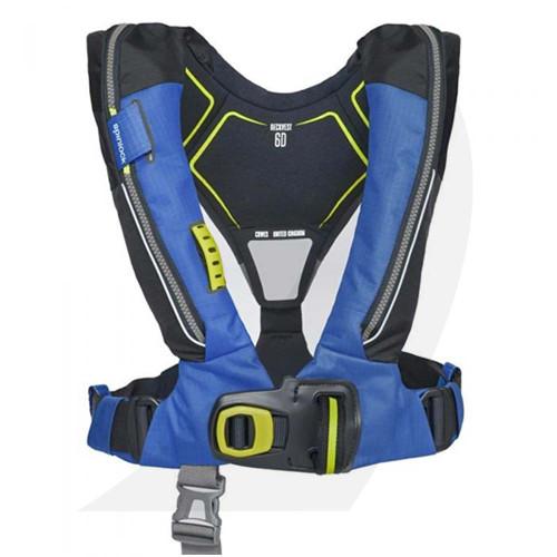 Spinlock Deckvest Lifejacket Harness 6D 170N Pacific Blue DW-LJH6D/APB