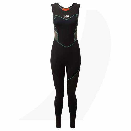 Gill Women's Zentherm Skiff Suit Black 5000W Front View