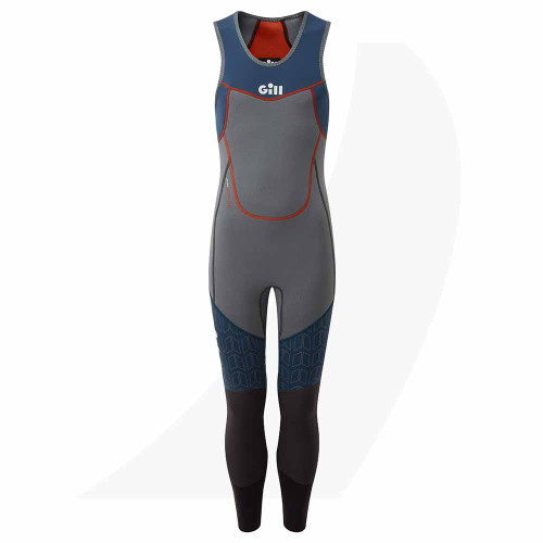 Gill Junior Zenlite Skiff Suit Steel 5002J Front View