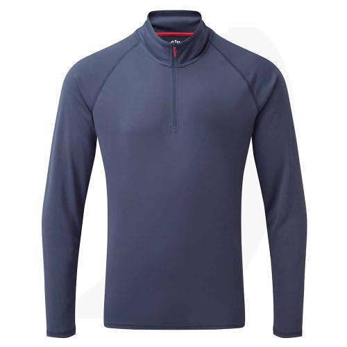 Gill Men's UV Tec Long Sleeve Zip Tee Ocean UV009 Front