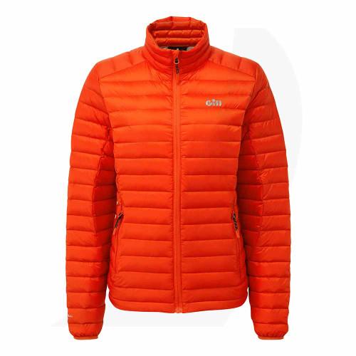 Gill Women's Hydrophobe Down Jacket Orange 1065W Front View
