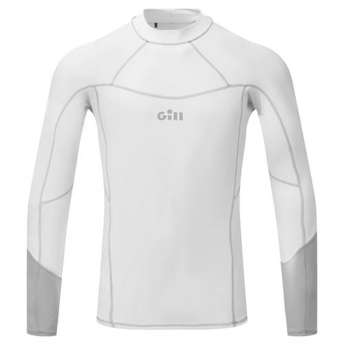 Gill Men's Pro Rash Vest Long Sleeve White