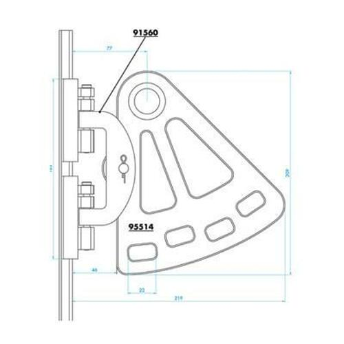 95514- Medium Top Headboard