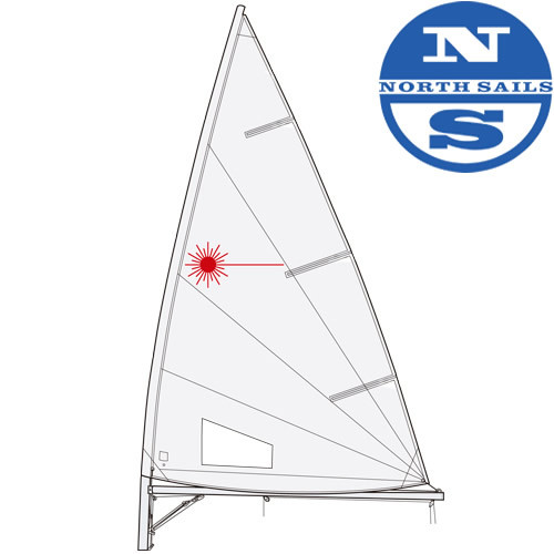 Laser Performance Laser Radial Sail by North Sails (Folded)