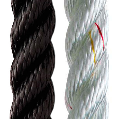 """New England Ropes 3-Strand Nylon for Anchoring and Docking (white) 9/16"""""""