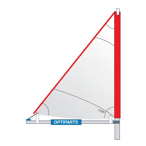 Optiparts EX1064 Tri Sail  with Mast and Mini Boom
