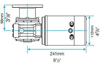 Lewmar Sailboat Windlass CPX1 Motor Gearbox