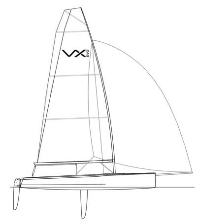 VX Evo Sailboat Plan Side