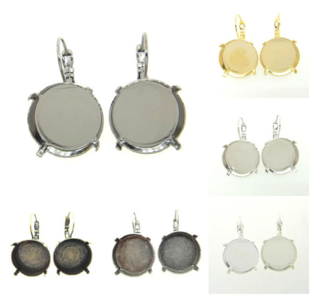 18mm Round Classic Drop Earring different finishes