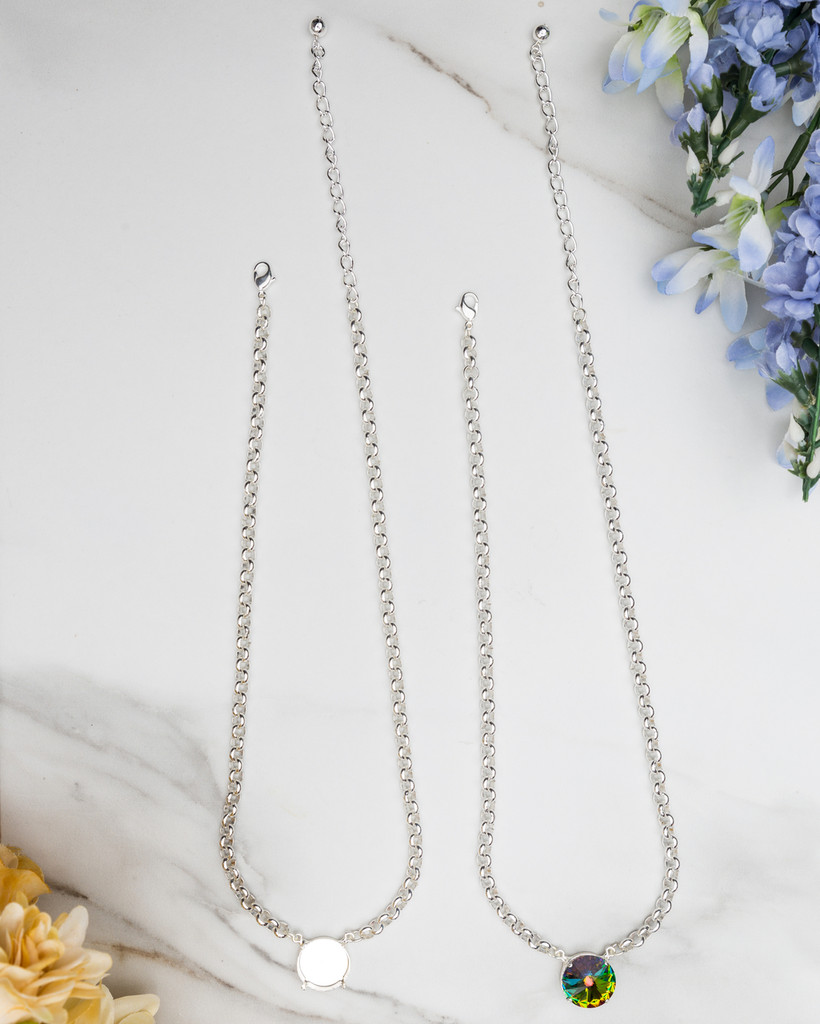 18mm Round | Pendant Necklace | Three Pieces