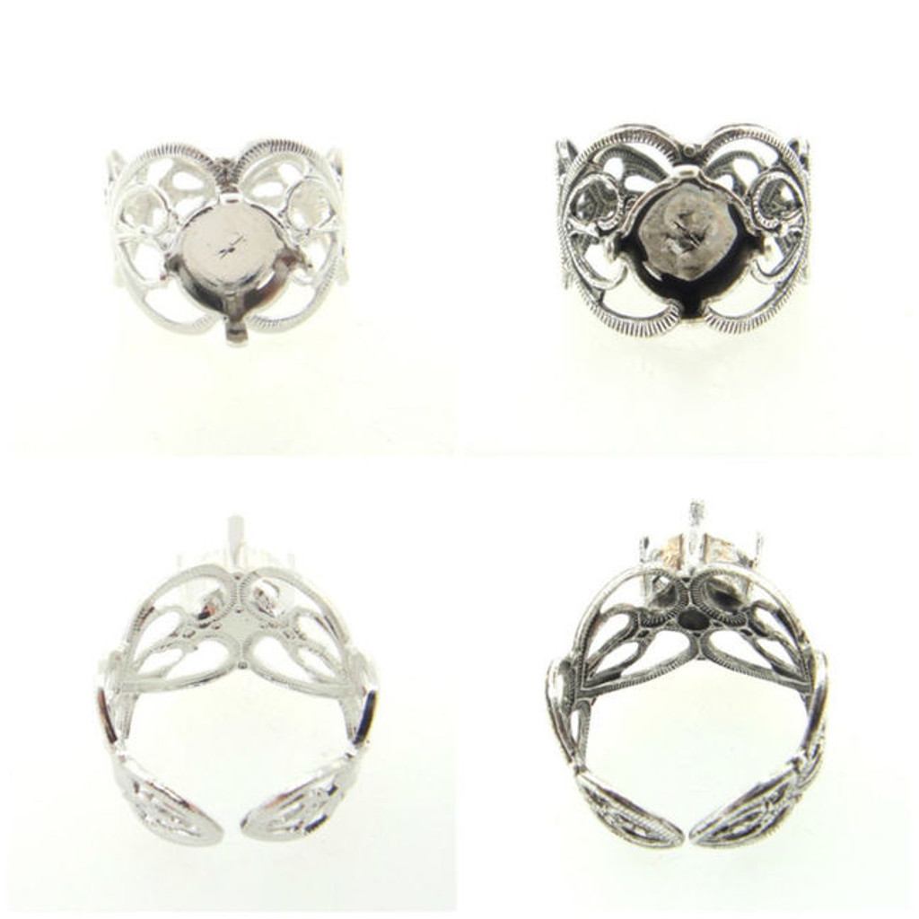 Filigree Adjustable Ring Empty 8.5mm 39ss Setting