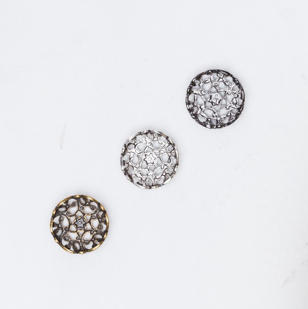 11mm | Lace Filigree Element | 12 Pieces