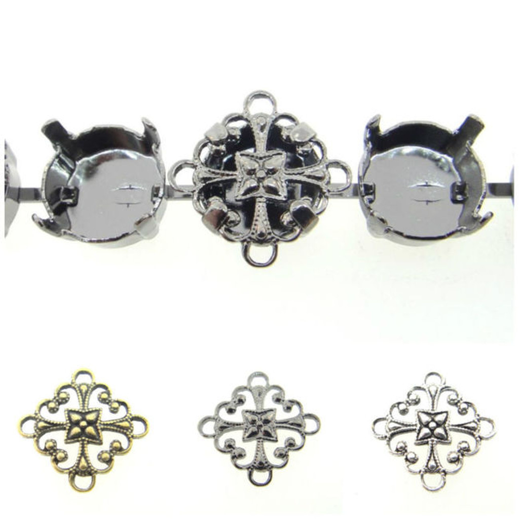 11mm & 12mm   Filigree Element   12 Pieces