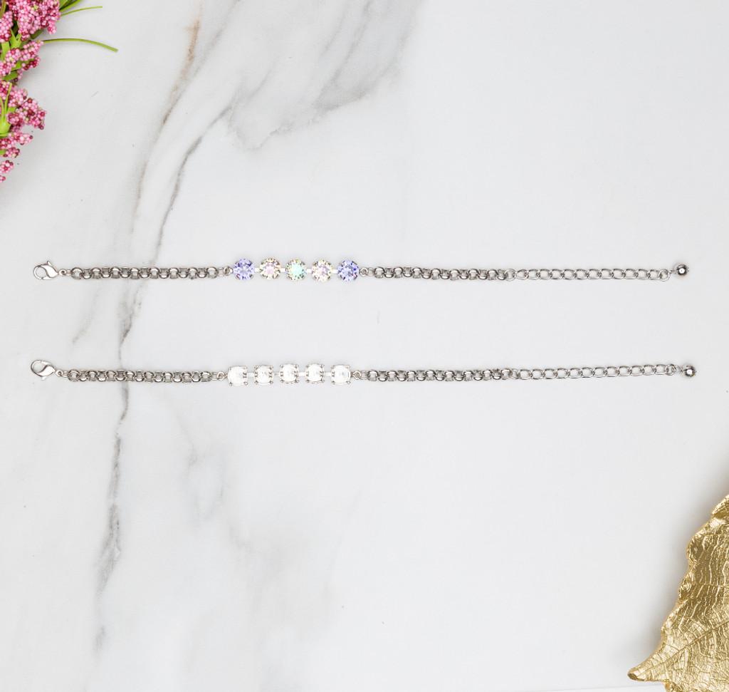 8.5mm | Classic Five Setting Bracelets view 2
