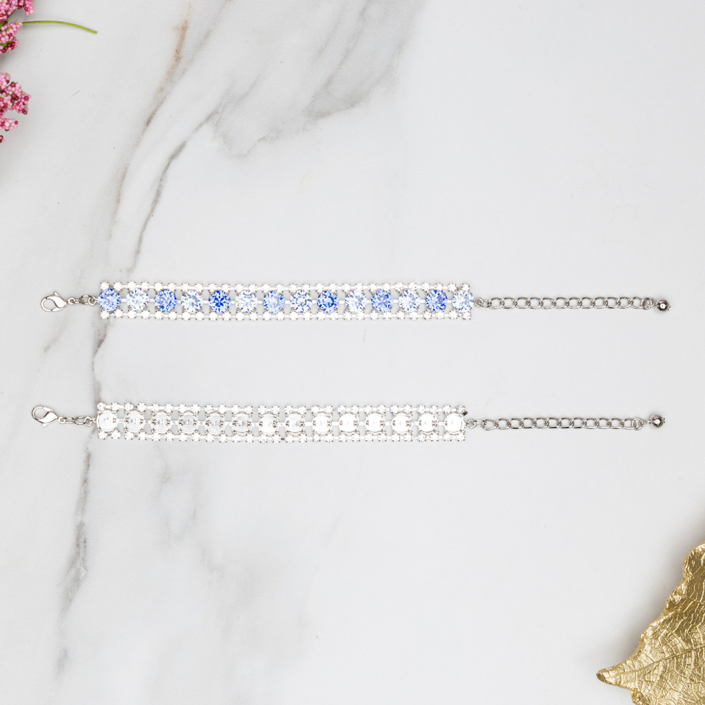 Crystal Halo Fourteen Setting Bracelet