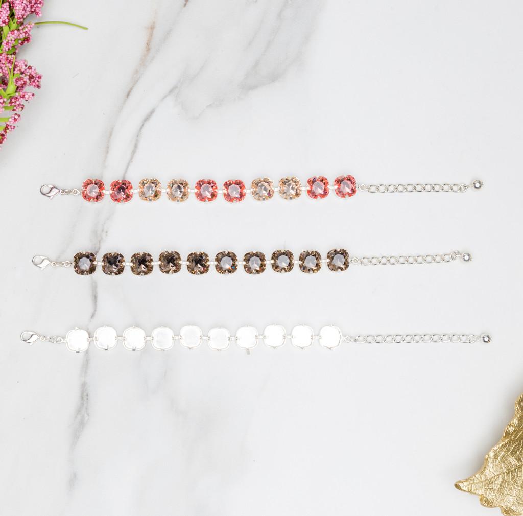 12mm Square   Classic Ten Setting Bracelets