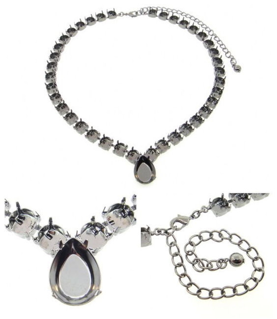 Empty Special Design Necklaces Style 2 - 8.5mm & 18x13mm Pear