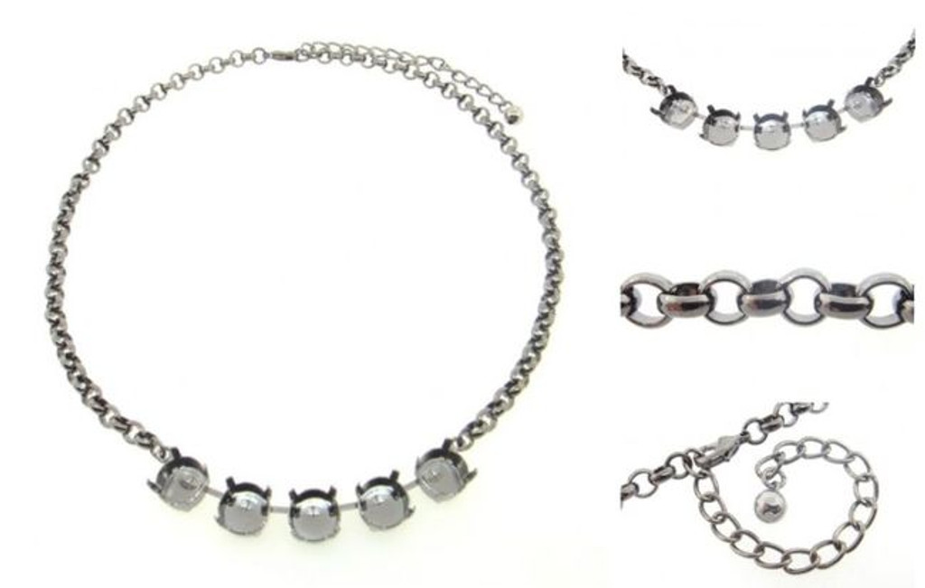 11mm | Classic Five Setting Necklace | Three Pieces