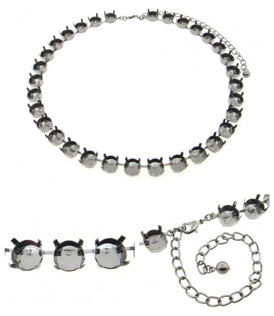 11mm | Classic 32 Setting Necklace | Three Pieces