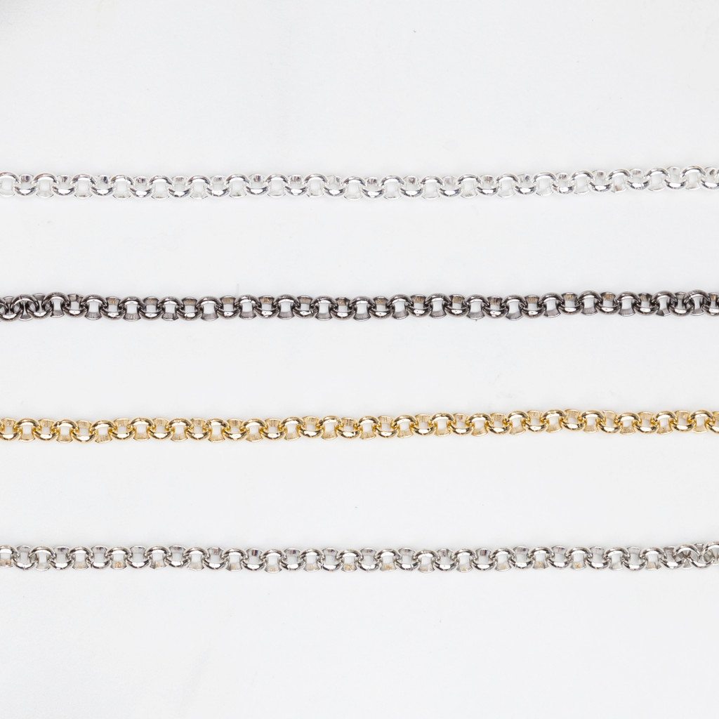 5mm | Smooth Rolo Chain | 3 Foot Lengths - Choose Finish