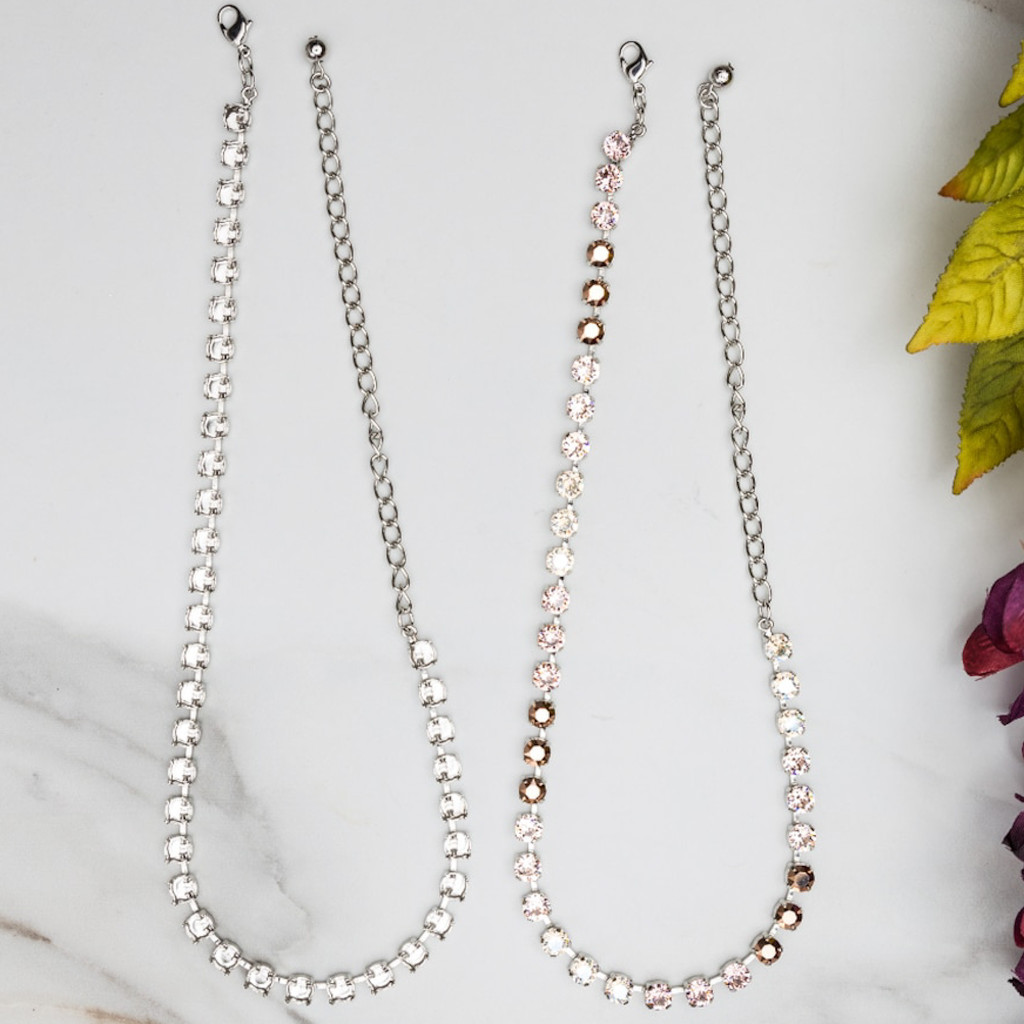 6mm   Classic Thirty-Six Setting Necklace   Three Pieces