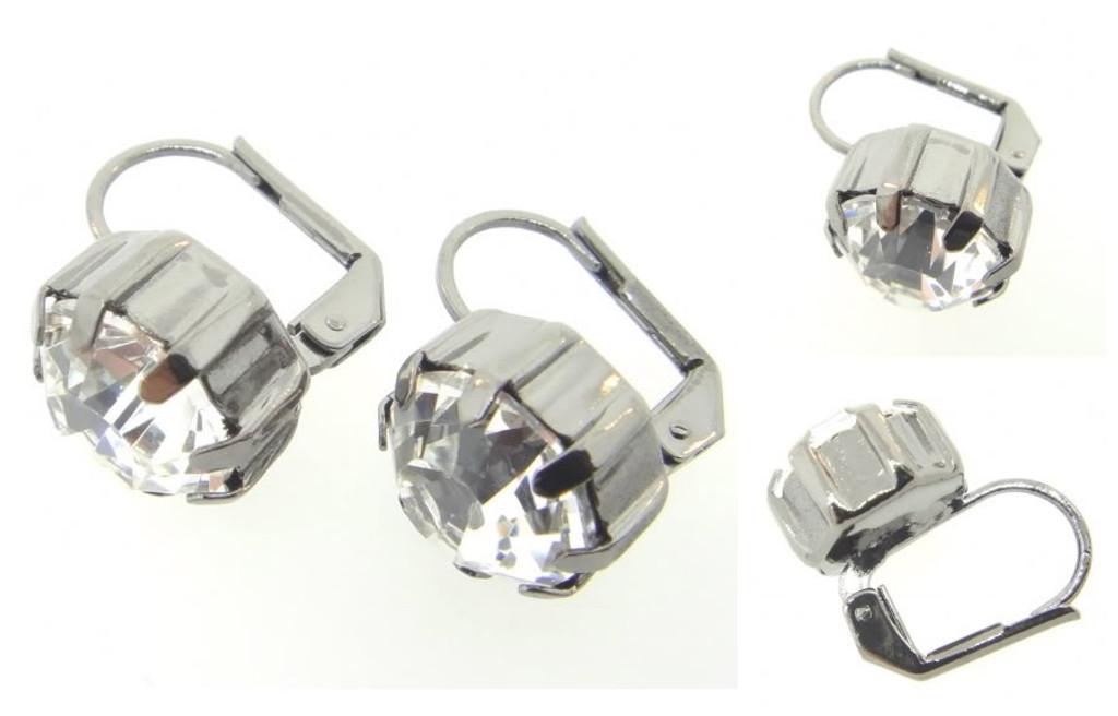 Austrian Crystal Earrings Hematite