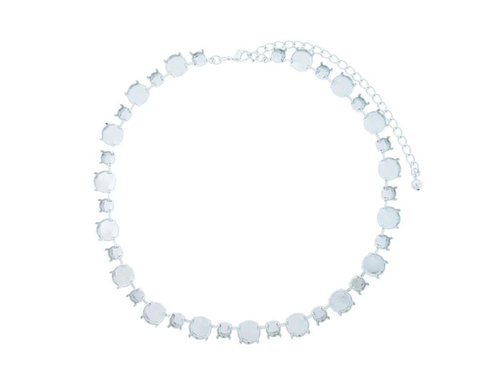 8.5mm and 12mm Rivoli Round Alternating Necklace