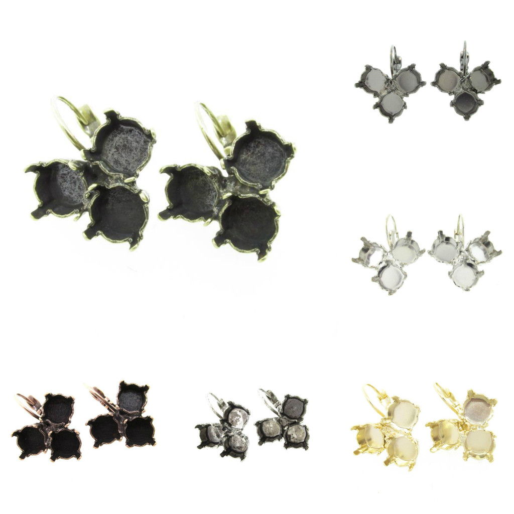 8.5mm Triangle Drop Earring different finishes