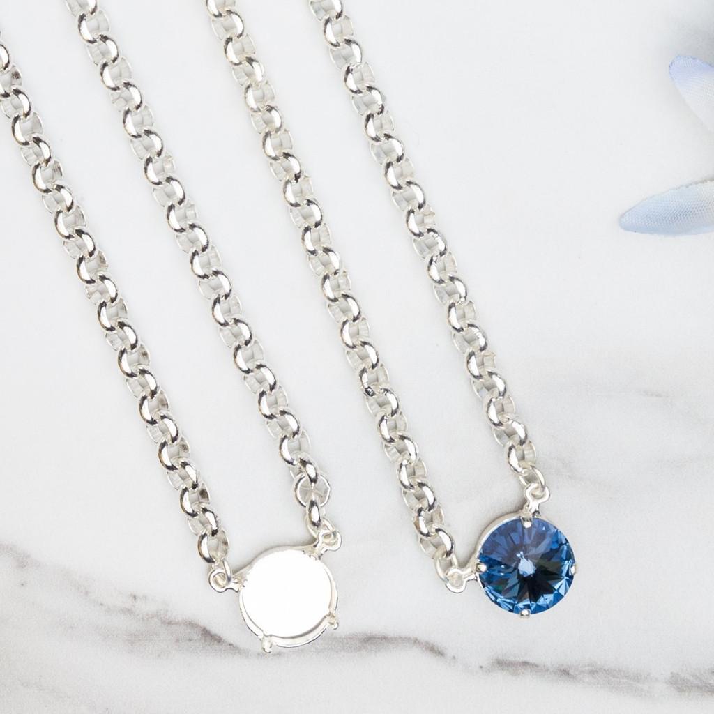 14mm Round   Pendant Necklace   Three Pieces