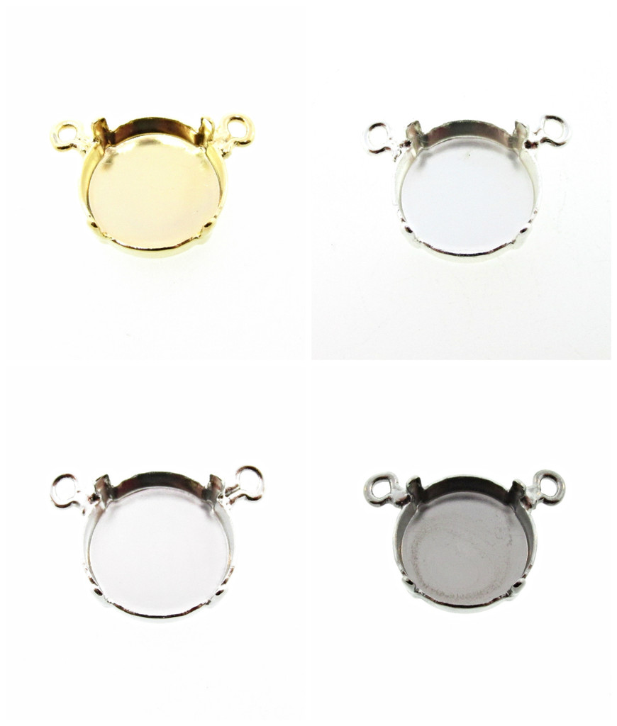 14mm Rivoli Round Single Pendant Center Piece Add Your Own Chain 3 Pieces