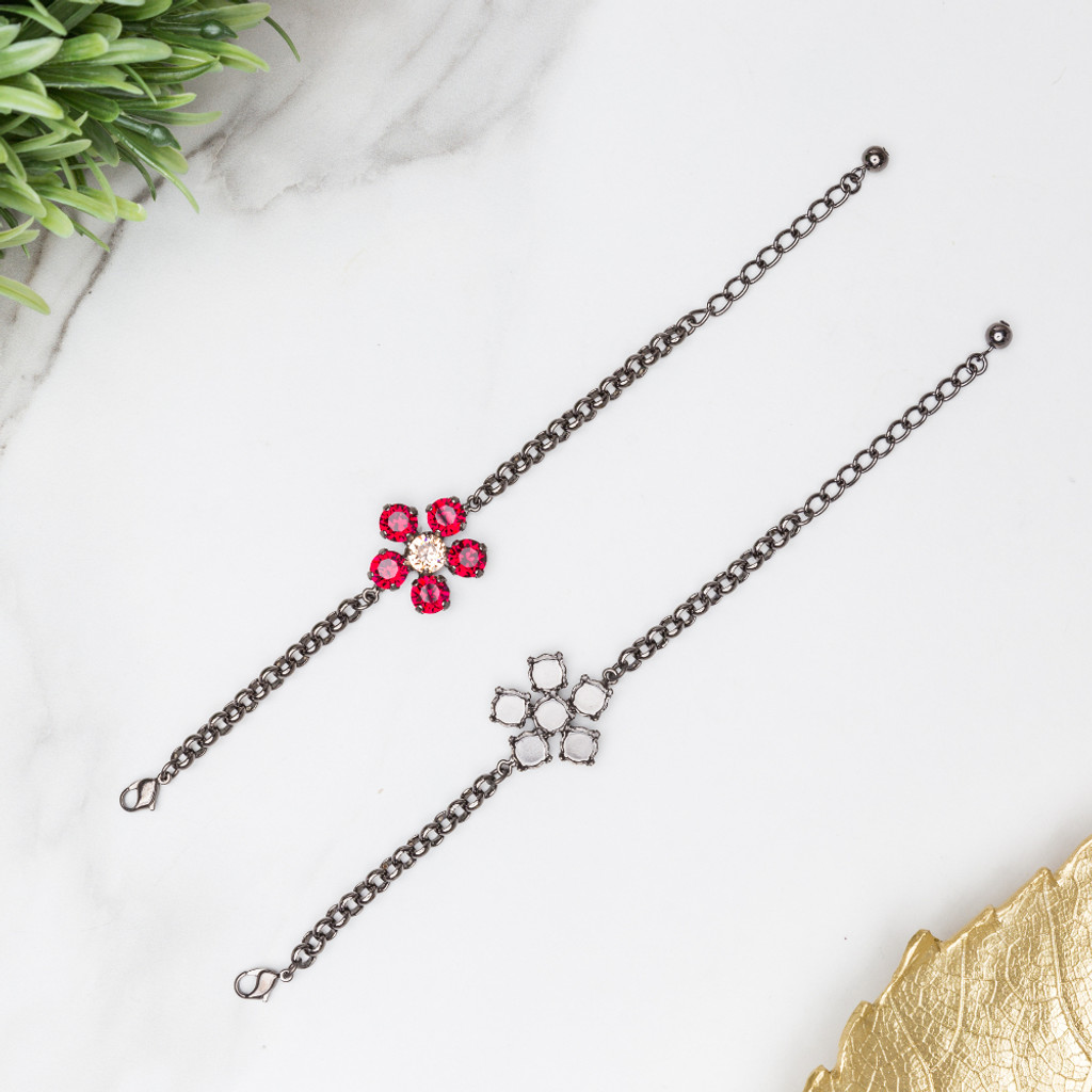 8.5mm | Flower Bracelet | Three Pieces