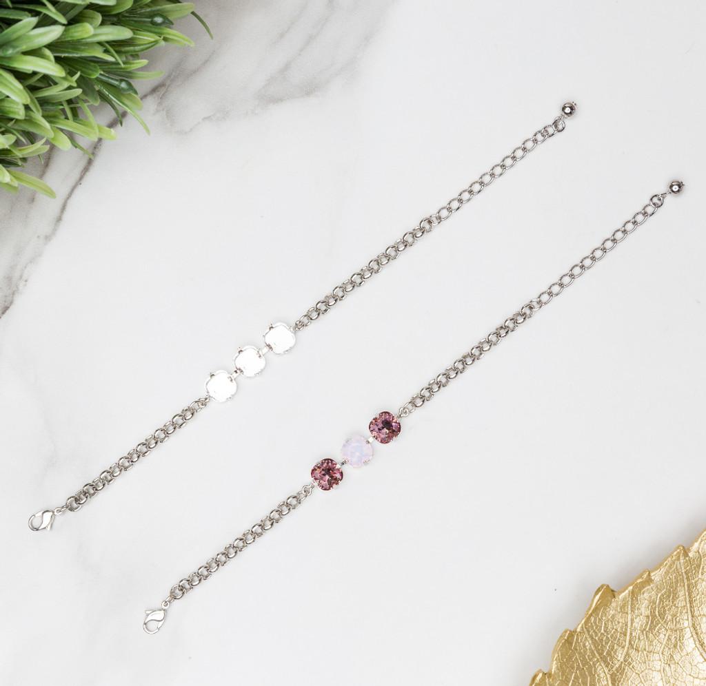 Classic Three Setting Bracelets