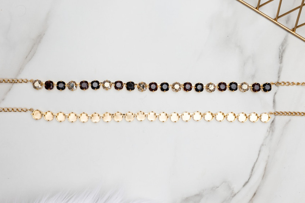 10mm Square | Classic 21 Setting Necklace | Three Pieces