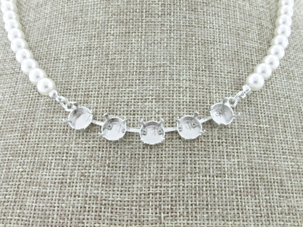 8.5mm (39ss) 5 Box Empty Necklace With Faux Pearl Strands detail
