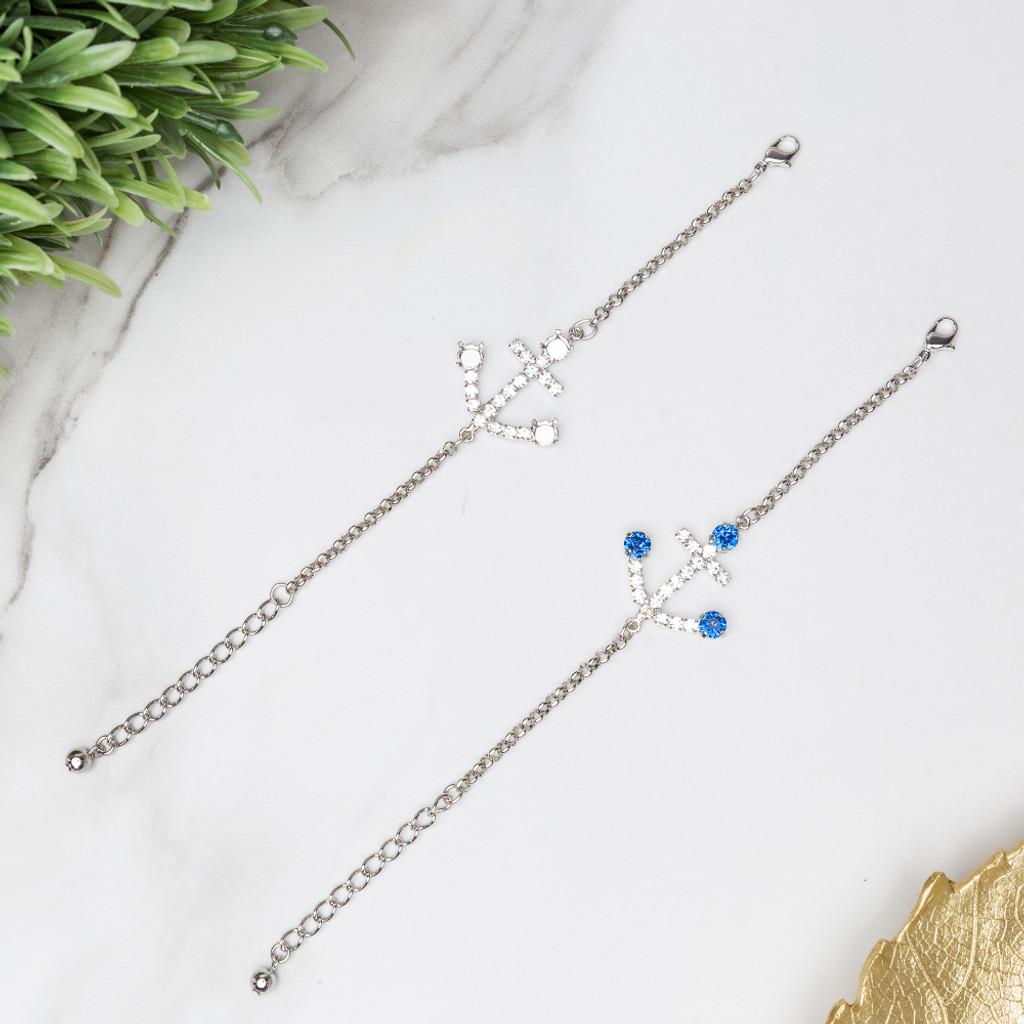 Anchor Crystal Rhinestone Bracelet