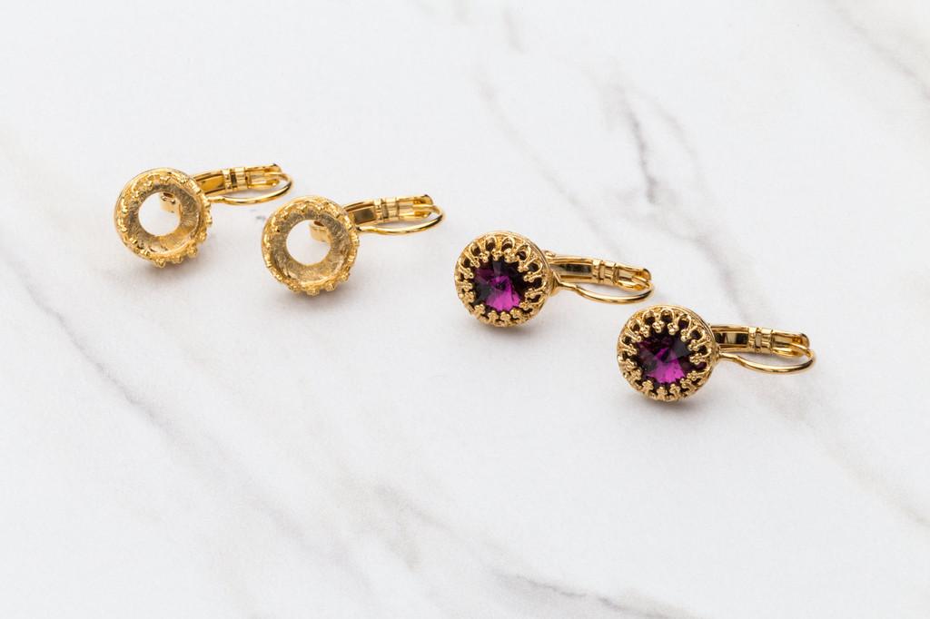 8.5mm Crown Drop Earring