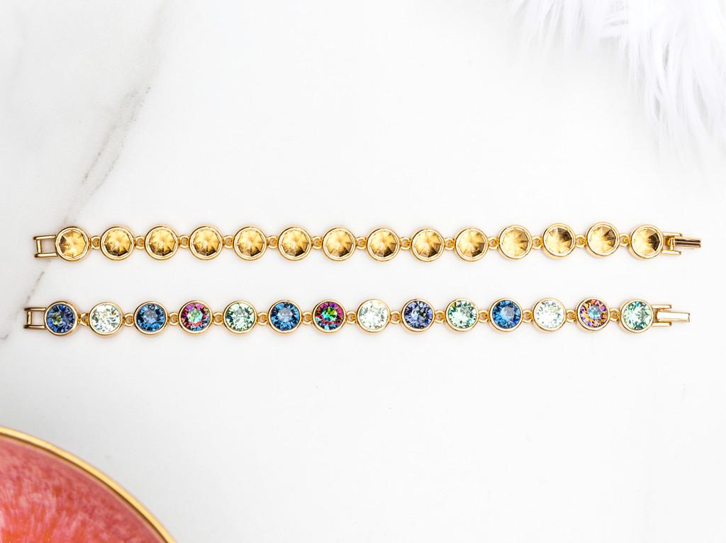 8.5mm   Casted Fourteen Setting Bracelet   One Piece