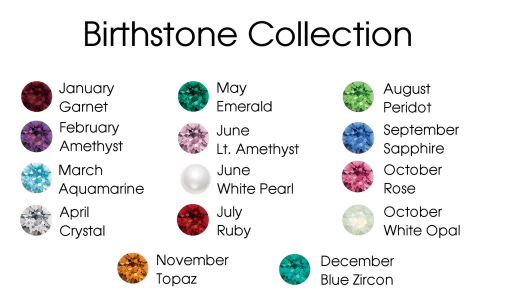 8.5mm (39ss) Birthstone Mixed Color Assortment Swarovski Crystals