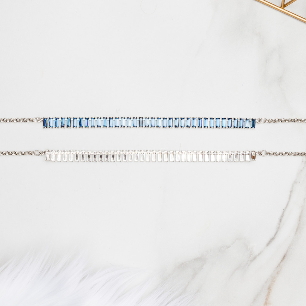 7mm x 3mm Baguette | Classic 36 Setting Necklace | One Piece