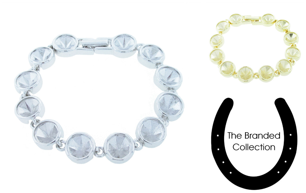 The Branded Collection - 8.5mm (39ss) Chaton Twelve Station Casted Luminous Bracelet