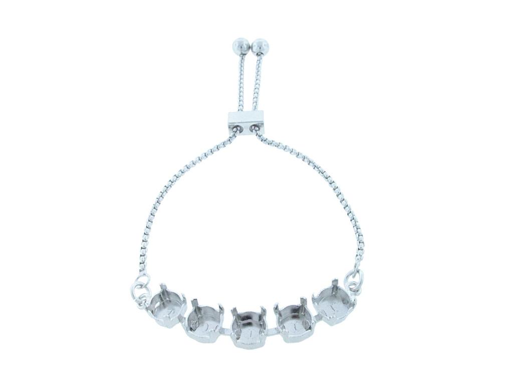 8.5mm | Five Setting Adjustable Slider Bracelet | One Piece