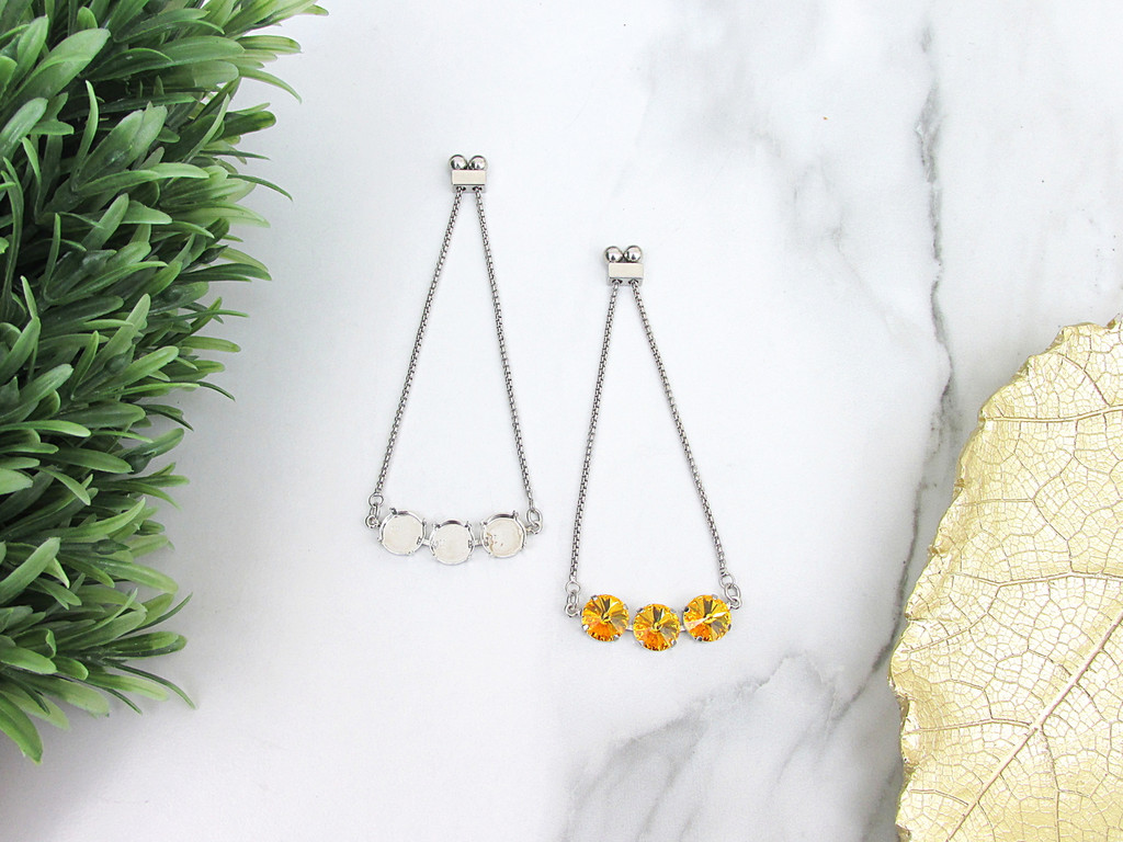 Three Setting Adjustable Slider Bracelet view 1
