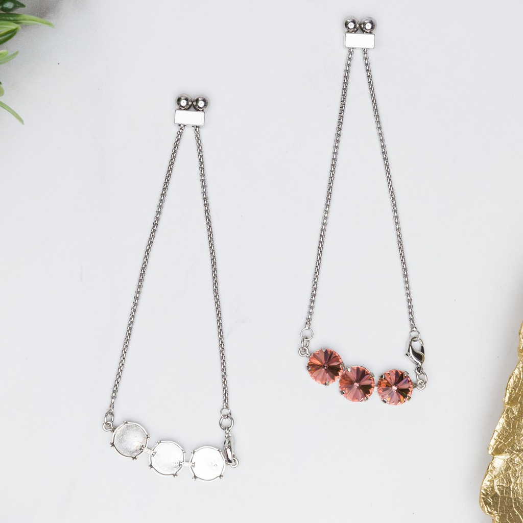 Three Setting Adjustable Slider Anklet