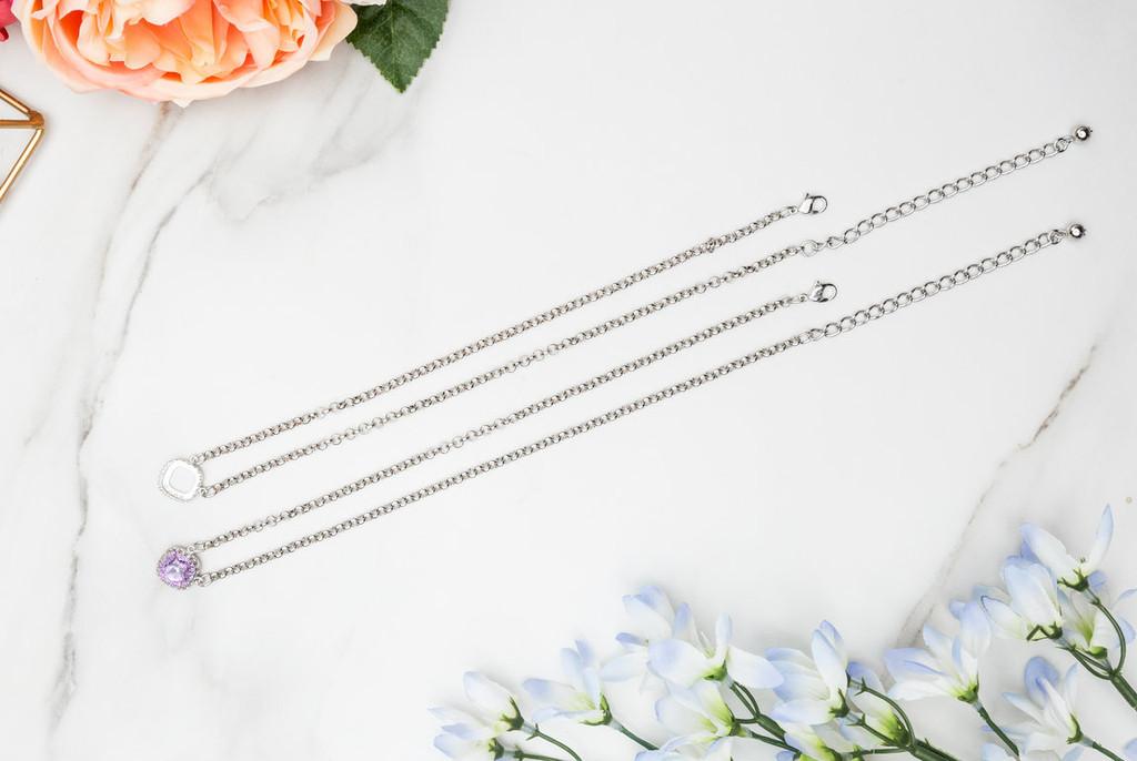 12mm Square | Crown Pendant Necklace | One Piece