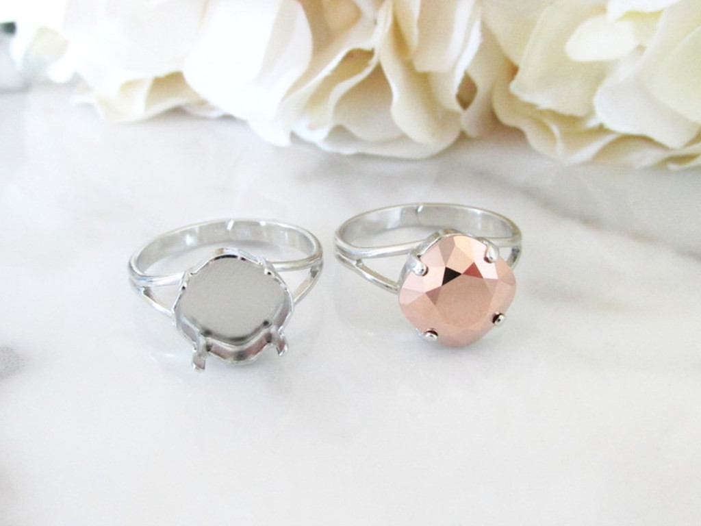 10mm Square Classic Band Adjustable Ring